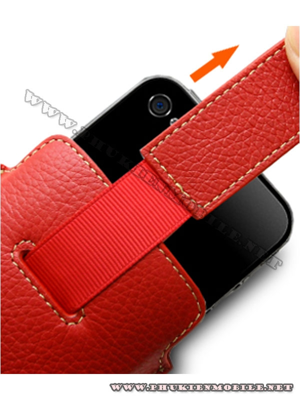 Bao cầm tay iPhone 4 Melkco Leather Case - Oto Holder Type màu đỏ 4