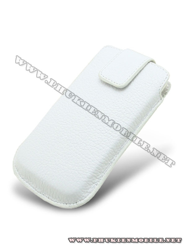 Bao cầm tay iPhone 4 Melkco Leather Case - Oto Holder Type màu trắng 1