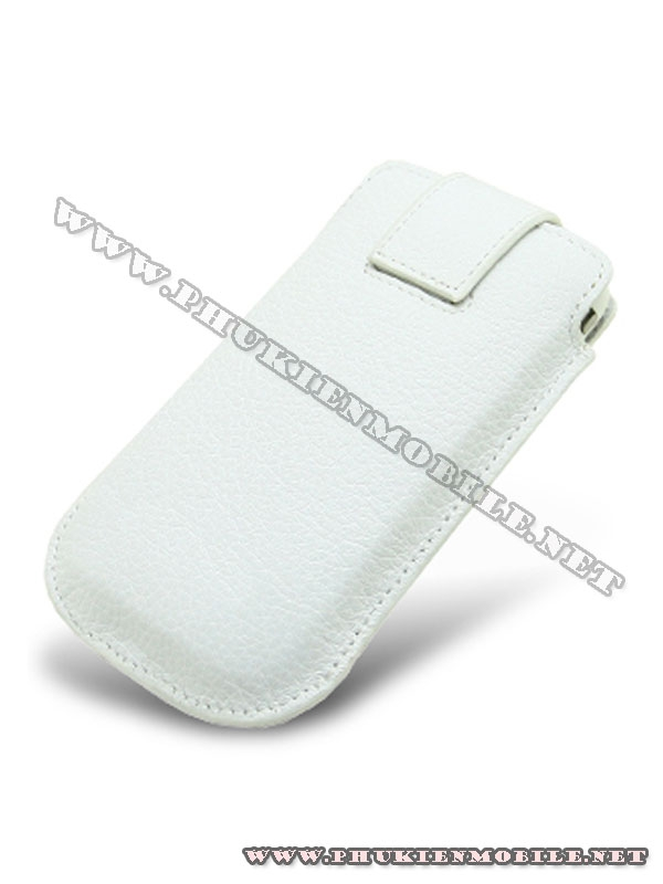 Bao cầm tay iPhone 4 Melkco Leather Case - Oto Holder Type màu trắng 2