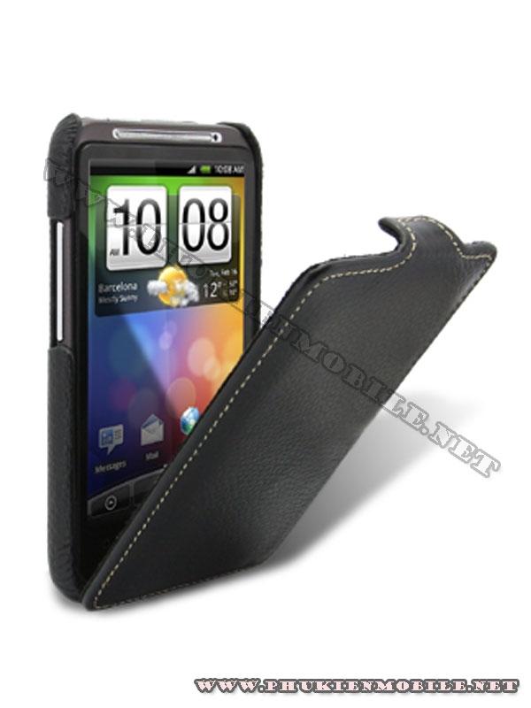 Bao lưng  HTC Desire HD Melkco Leather Case - Jacka Type màu đen 1