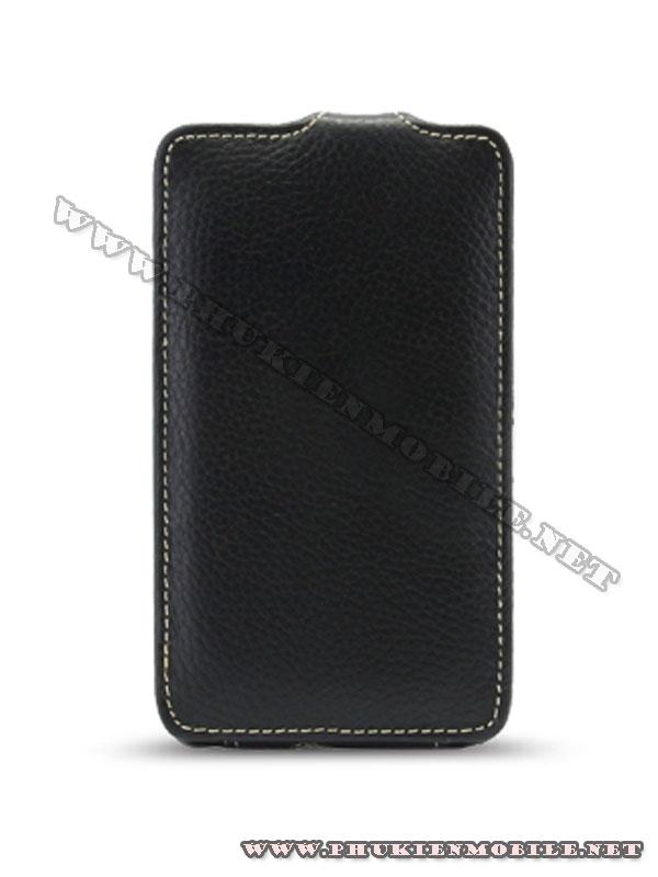 Bao lưng  HTC Desire HD Melkco Leather Case - Jacka Type màu đen 2
