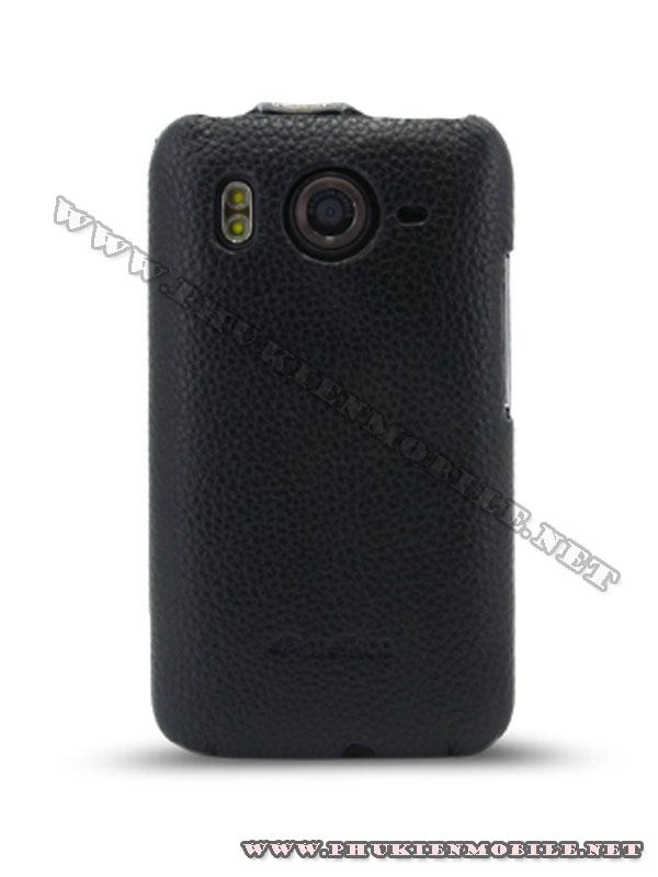 Bao lưng  HTC Desire HD Melkco Leather Case - Jacka Type màu đen 3
