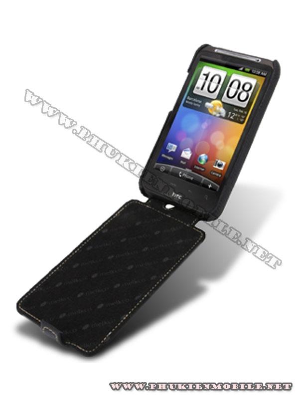 Bao lưng  HTC Desire HD Melkco Leather Case - Jacka Type màu đen 4