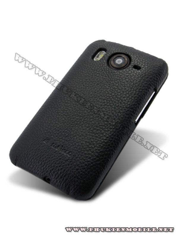 Bao lưng  HTC Desire HD Melkco Leather Case - Jacka Type màu đen 5