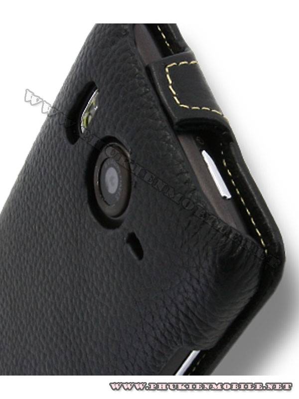 Bao lưng  HTC Desire HD Melkco Leather Case - Jacka Type màu đen 6
