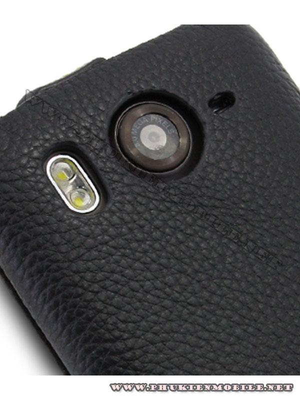 Bao lưng  HTC Desire HD Melkco Leather Case - Jacka Type màu đen 7