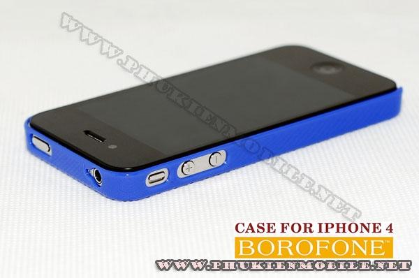 Ốp lưng iPhone 4 Borofone màu xanh 2