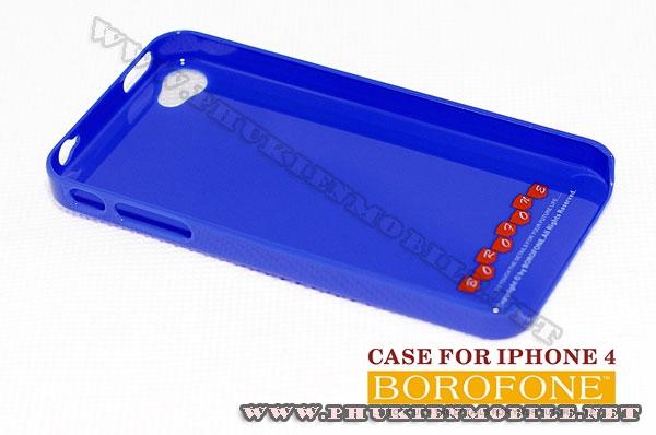 Ốp lưng iPhone 4 Borofone màu xanh 3