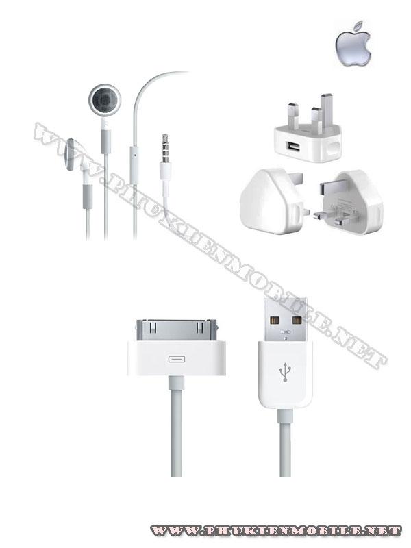 Bộ phụ kiện theo máy chính hãng cho iPhone 3G, 3GS, 4 1