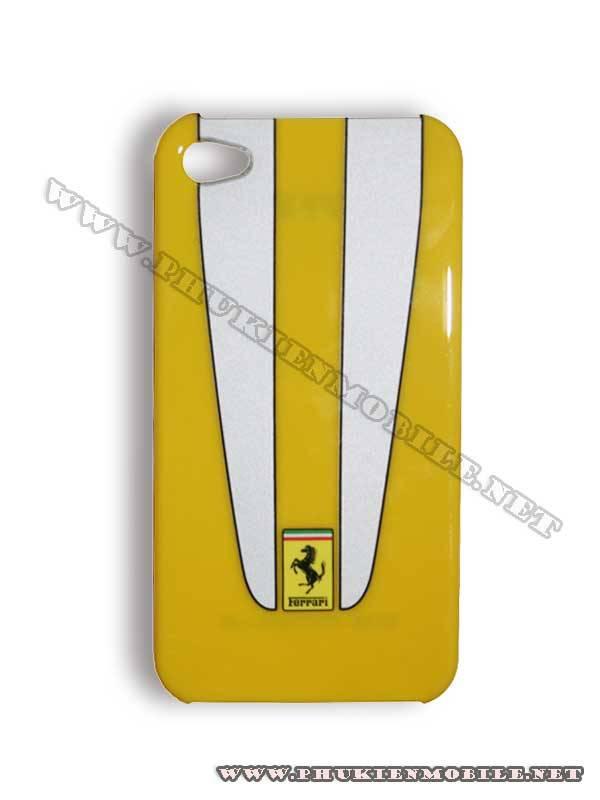 Ốp lưng iPhone 4 Ferrari Case nhựa màu vàng 1