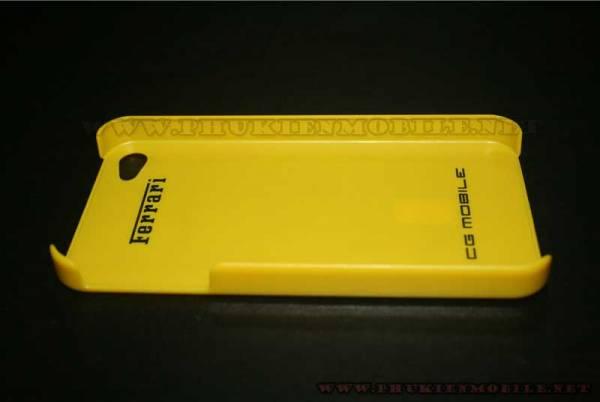 Ốp lưng iPhone 4 Ferrari Case nhựa màu vàng 3