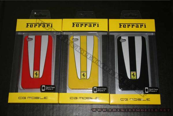 Ốp lưng iPhone 4 Ferrari Case nhựa màu vàng 5