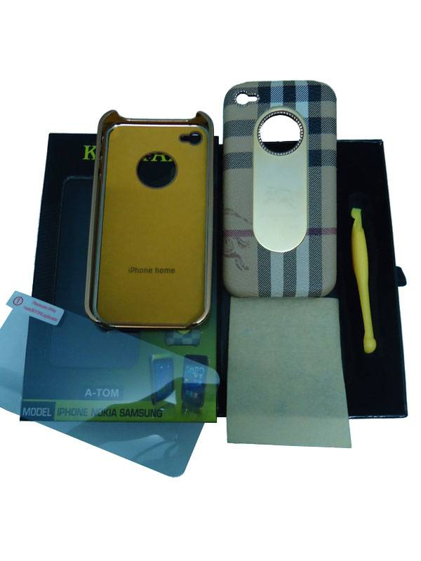 Ốp lưng iPhone 4 KingPad Burberry (màu be) 1