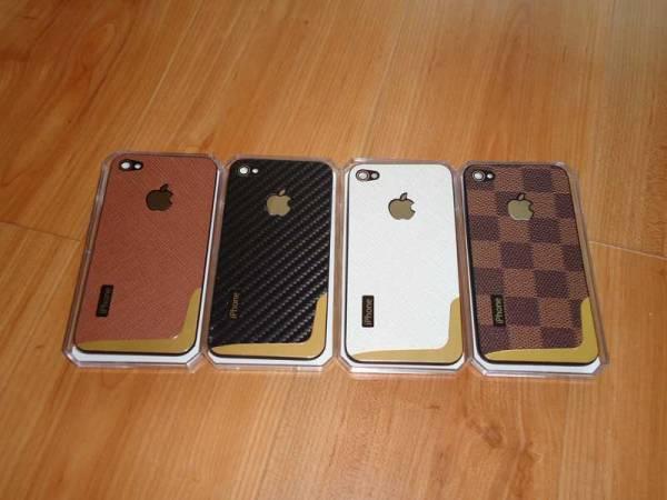 Lưng da thời trang thay thế cho iPhone 4 1