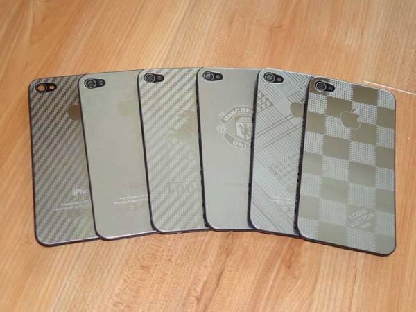 Lưng inox thời trang thay thế cho iPhone 4 1
