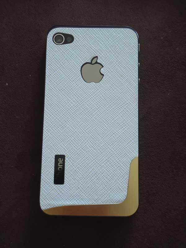 Lưng da thời trang thay thế cho iPhone 4 2