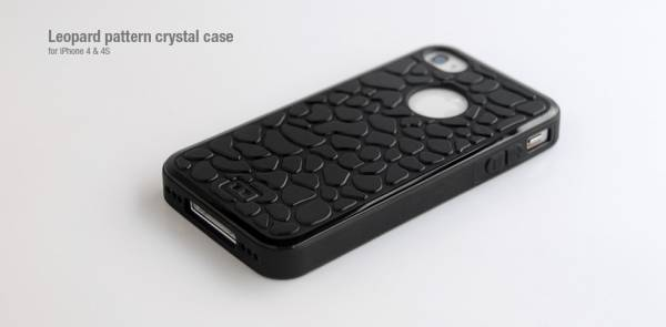 Ốp lưng iPhone 4 Hoco Leopard pattern crystal case 1