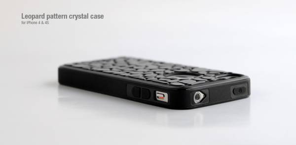 Ốp lưng iPhone 4 Hoco Leopard pattern crystal case 2