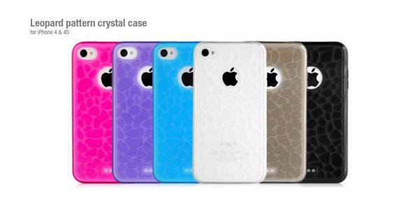 Ốp lưng iPhone 4 Hoco Leopard pattern crystal case 7
