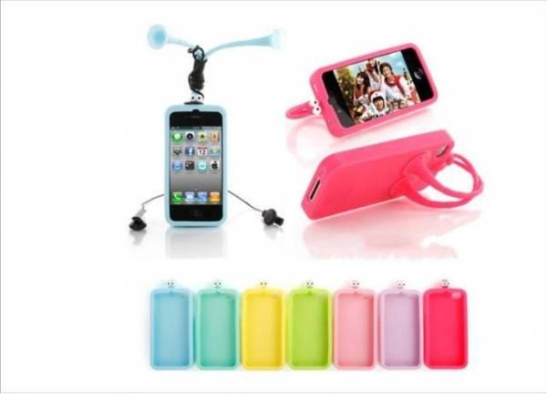 Ốp lưng iPhone 4 thời trang bằng silicon 4