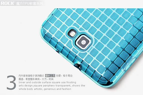 Ốp lưng Samsung Galaxy Note i9220 Rock Cube Magic TPU 3