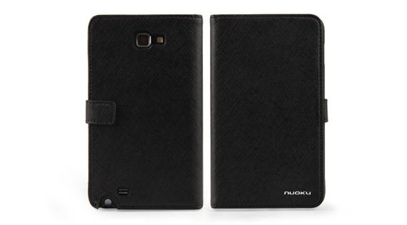 Bao Da Samsung Galaxy Note i9220 mở ngang Book Genuine 1
