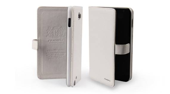 Bao Da Samsung Galaxy Note i9220 mở ngang Book Genuine 3