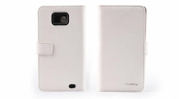 Bao da Samsung Galaxy S2 i9100 mở ngang Nuoku Book Genuine 1