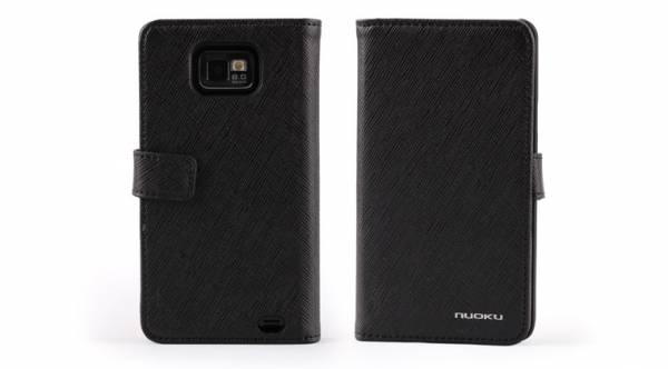 Bao da Samsung Galaxy S2 i9100 mở ngang Nuoku Book Genuine 4