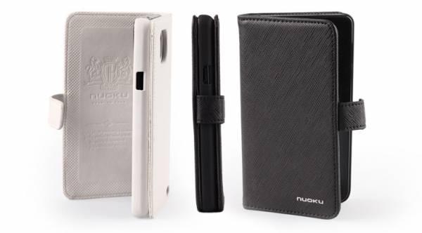 Bao da Samsung Galaxy S2 i9100 mở ngang Nuoku Book Genuine 7
