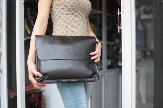Túi xách da đựng iPad Giorgio Armani - kiểu 1 1