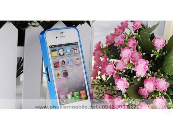 Viền iPhone 4/4S Crossline đính đá 4