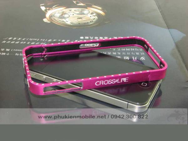 Viền iPhone 4/4S Crossline đính đá 5