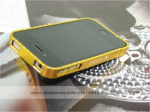 Viền iPhone 4/4S Crossline đính đá 6