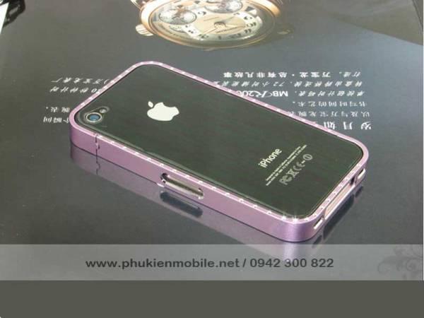 Viền iPhone 4/4S Crossline đính đá 7