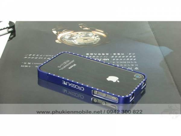Viền iPhone 4/4S Crossline đính đá 8