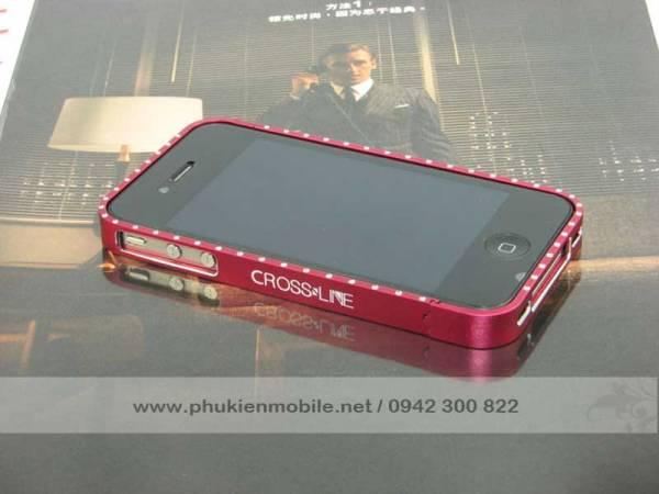 Viền iPhone 4/4S Crossline đính đá 9