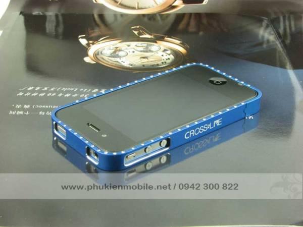 Viền iPhone 4/4S Crossline đính đá 11