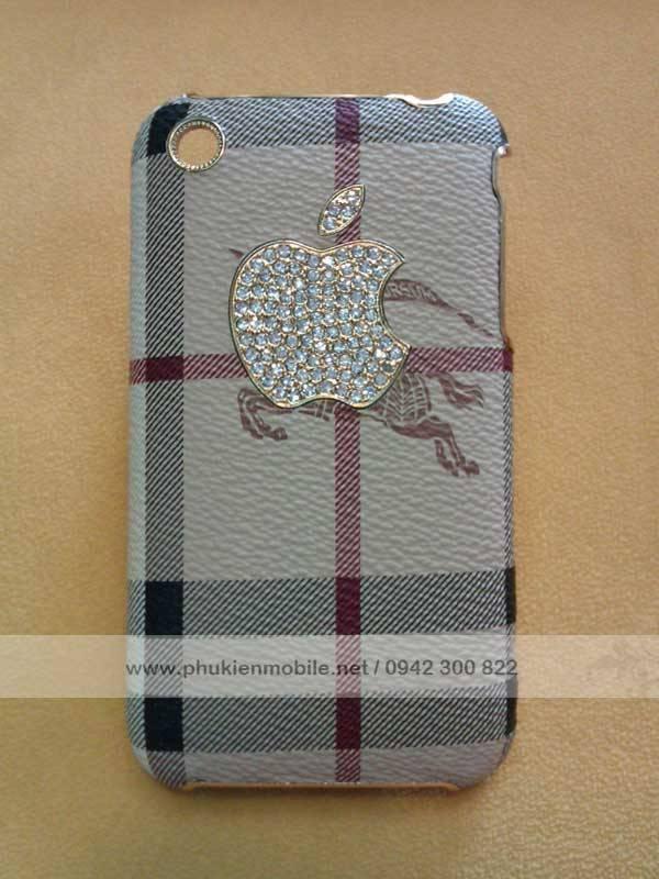 Ốp lưng cho iPhone 3G / 3GS đính đá Burberry 1