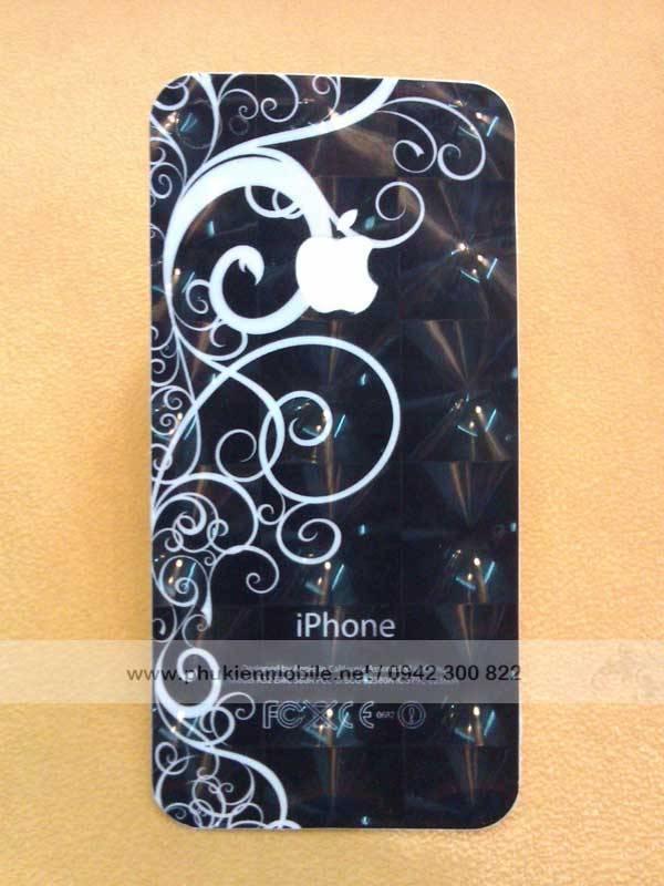 Miếng dán lưng, viền 3D thời trang cho iPhone 4 / 4S 1