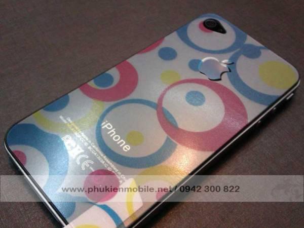Miếng dán lưng thời trang cho iPhone 4 / 4S 5