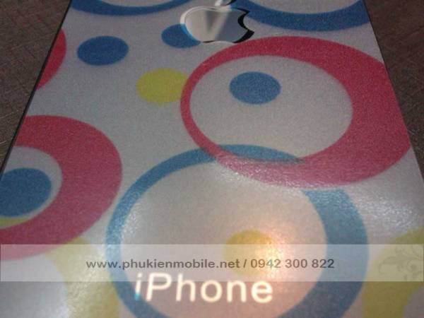 Miếng dán lưng thời trang cho iPhone 4 / 4S 6