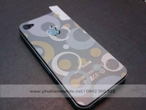Miếng dán lưng thời trang cho iPhone 4 / 4S 7