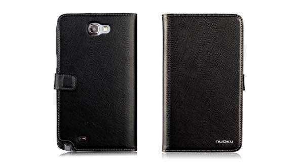 Bao da Samsung Galaxy Note 2 N7100 mở ngang Nuoku Book 1