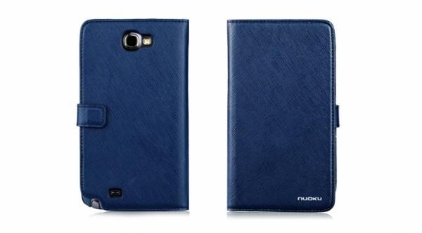 Bao da Samsung Galaxy Note 2 N7100 mở ngang Nuoku Book 5