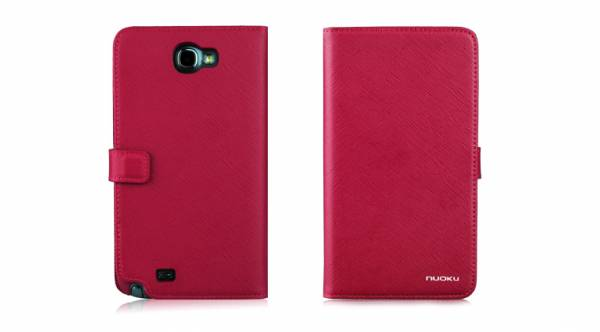 Bao da Samsung Galaxy Note 2 N7100 mở ngang Nuoku Book 7