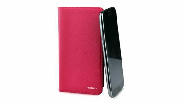Bao da Samsung Galaxy Note 2 N7100 mở ngang Nuoku Book 8