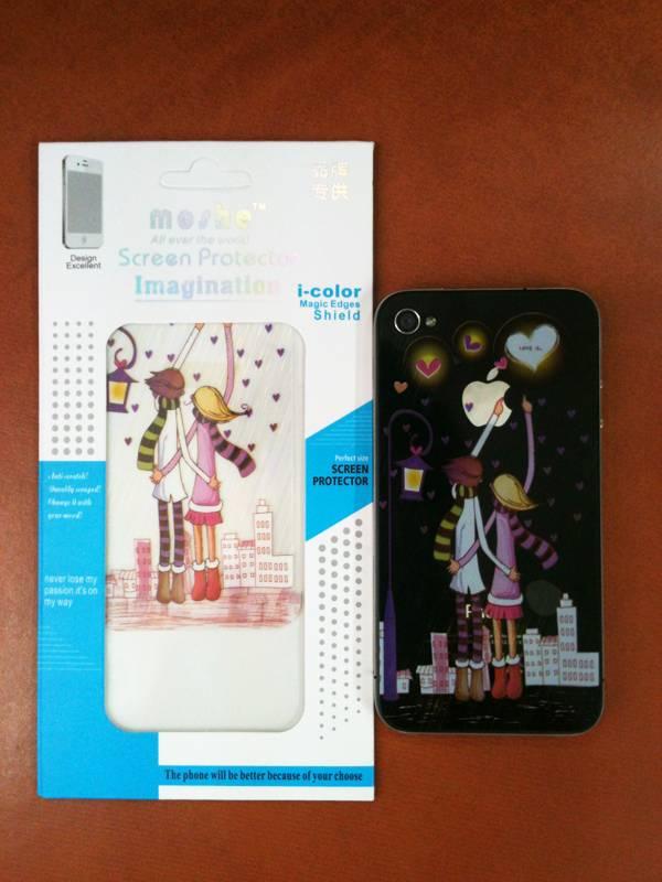 Dán màn hình, lưng skin 3d cho iPhone 4 / 4S 1