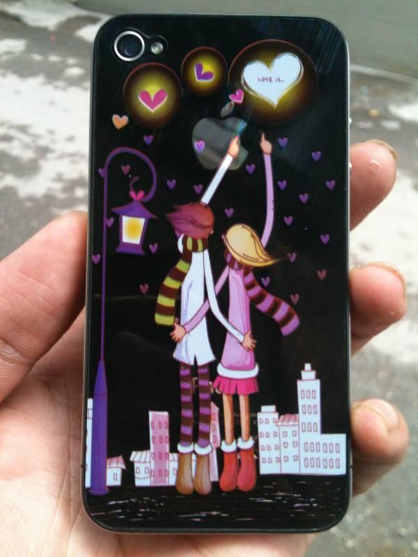 Dán màn hình, lưng skin 3d cho iPhone 4 / 4S 3