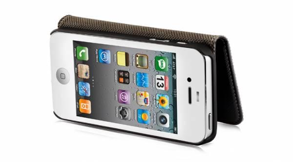 Bao da iPhone 5 mở ngang Nuoku Book 6